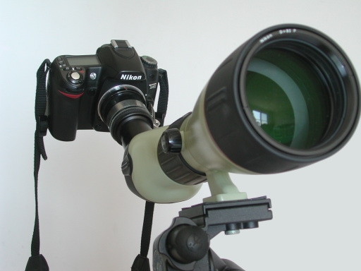 D80 on eyepiece
