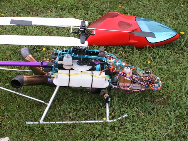 RC Turbine Helicopter guts